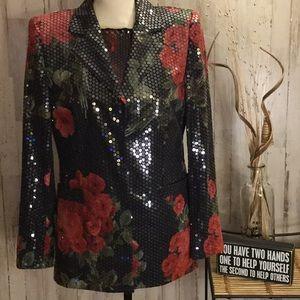 💕HP💕Escada 2 piece sequence jacket & top.